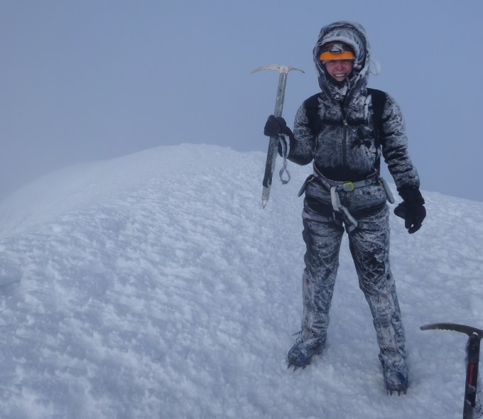 Kris Bickerton on Cotopaxi, the second highest peak in Ecuador