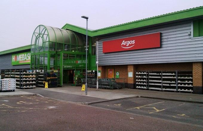 Argos in Homebase Andover - Store Entrance