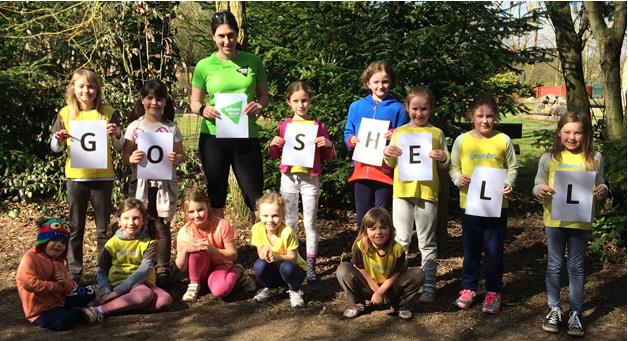 Andover Guides and Brownies Spell Out Success for Leader's Marathon Challenge with leading disability charity Enham Trust