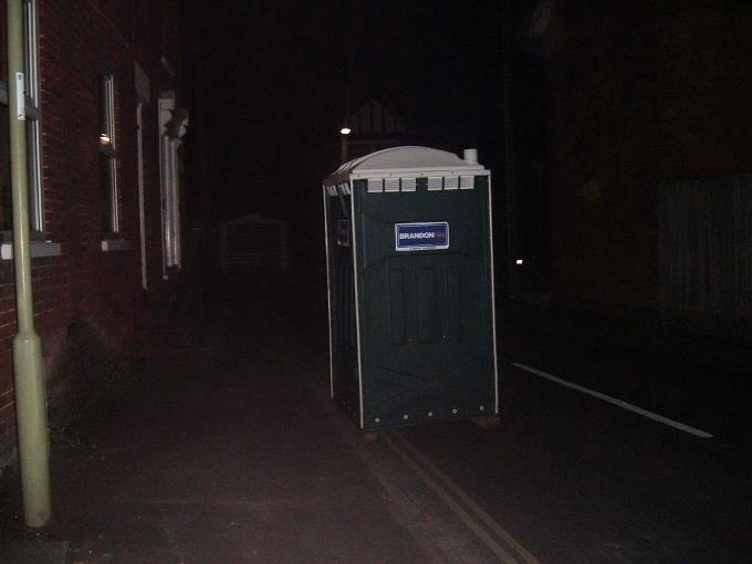 Portaloo in Old Winton Road