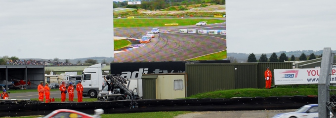 Big Screens at Thruxton (image courtesy of Thruxton Race Circuit)