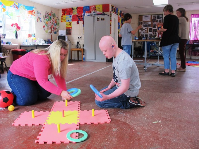 Kerry and Charlie, learning through play at Enham Trust