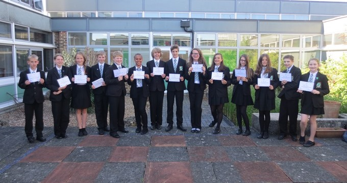 Harrow Way School Andover - Maths Challenge 2015-1