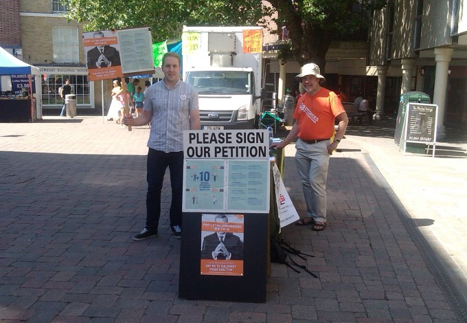 TTIP Campaigners in Andover