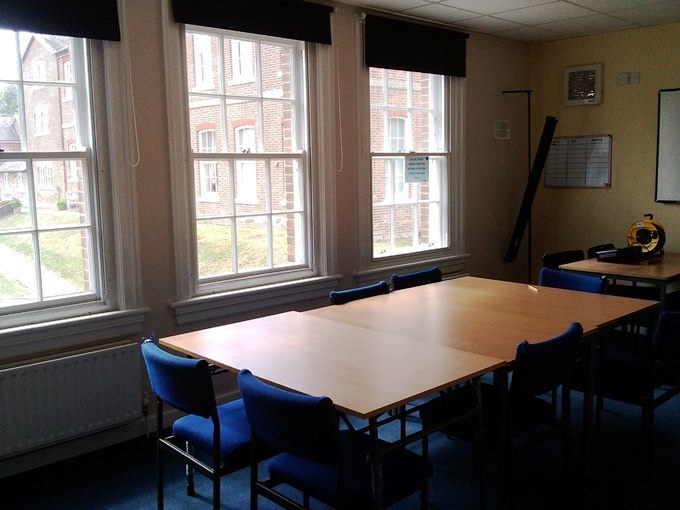 One of the meeting rooms at The Junction in Andover