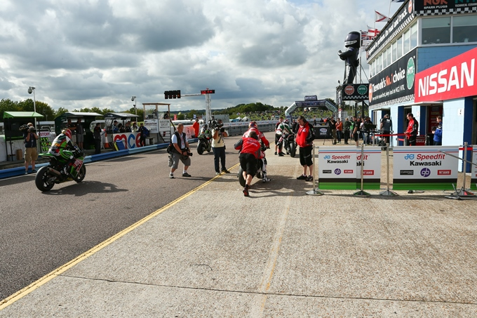 The Thruxton pit lane was a hive of activity today
