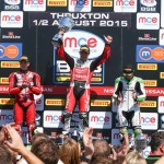 Brookes, Dan Linfoot and James Westmoreland on the podium