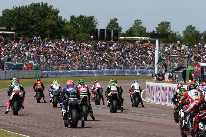 The spectator banks were full of avid BSB fans