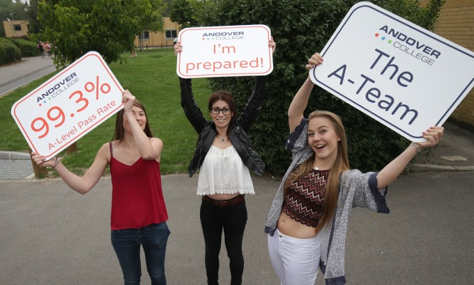 Andover College A-Level results.