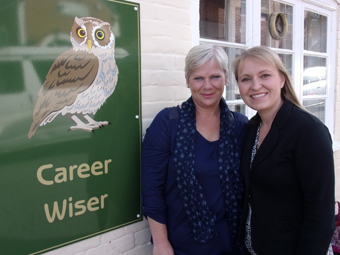 Rachael Walvin (left) and Ksenia Hammerton who are both on the Be Wiser More to Give programme