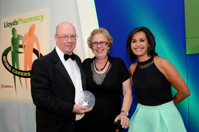 Sara O'Reilly from Andover accepts her LloydsPharmacy Award