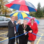 Mayor Cuts Ribbon to Open Former Court Car Park