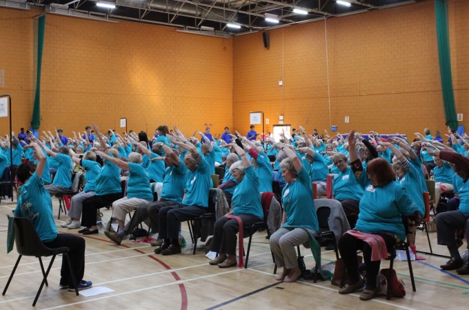 Andover Leisure Centre - Seated Exercise Class World Record