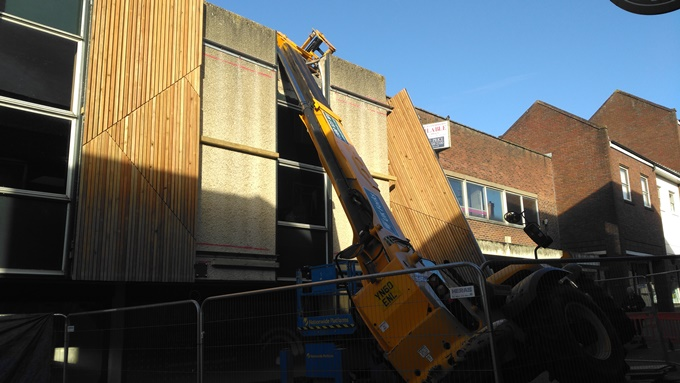 Crane Crash in Chantry Centre Andover 5