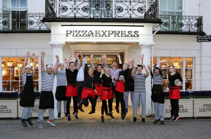 Wild Things! The PizzaExpress go wild and celebrate the opening of the new restaurant