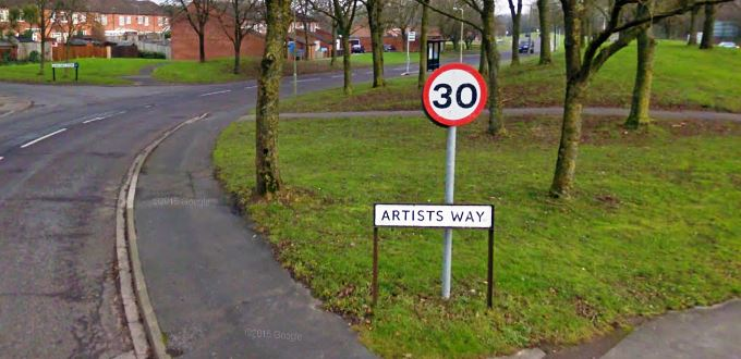 Artists Way (image courtesy of Google Maps)