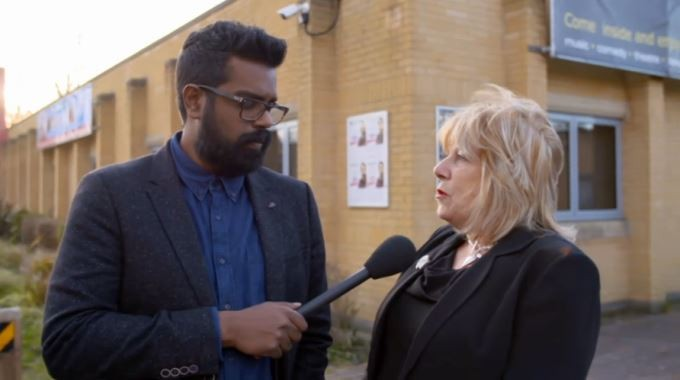 Ramesh Ranganathan in Andover for Channel 4's Comedy Gala