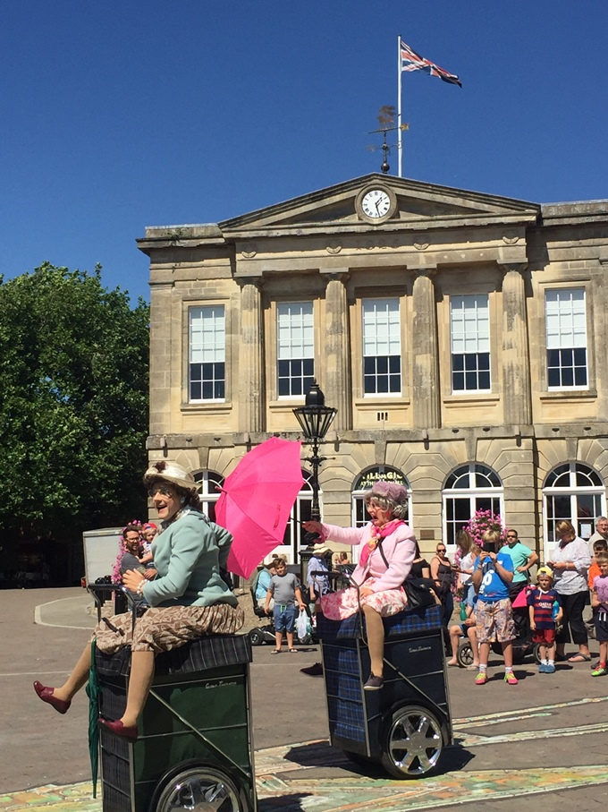 Four Fun Fridays - Granny Turismo perform in front of the Guildhall