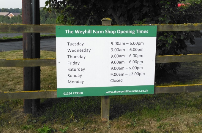 Weyhill Farm Shop - Opening Hours