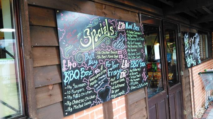 Weyhill Farm Shop - Specials Board